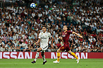 Real Madrid's Raphael Varane and AS Roma's Edin Dzeko during Champions League match. September 19, 2018. (ALTERPHOTOS/A. Perez Meca)