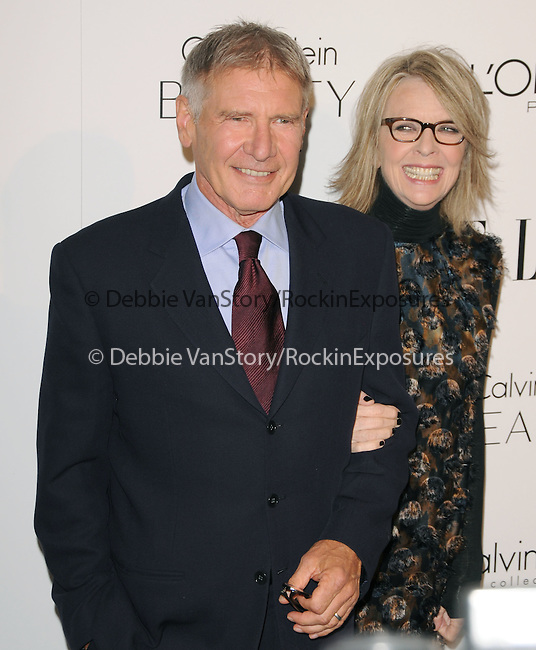 Diane Keaton and Harrison Ford walks the carpet as Elle Honors Hollywood's Most Esteemed Women in the 17th Annual Women in Hollywood Tribute held at The Four Seasons Beverly Hills in Beverly Hills, California on October 18,2010                                                                               © 2010 VanStory/Hollywood Press Agency
