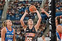 6th June 2021; Ken Rosewall Arena, Sydney, New South Wales, Australia; Australian Suncorp Super Netball, New South Wales, NSW Swifts versus Giants Netball; Jo Harten of the Giants Netball prepares to shoot