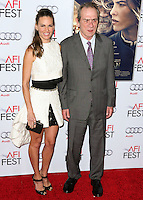 HOLLYWOOD, LOS ANGELES, CA, USA - NOVEMBER 11: Hilary Swank, Tommy Lee Jones arrive at the AFI FEST 2014 - 'The Homesman' Gala Screening held at the Dolby Theatre on November 11, 2014 in Hollywood, Los Angeles, California, United States. (Photo by Xavier Collin/Celebrity Monitor)