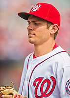 13 March 2016: Washington Nationals infielder Trea Turner in action during a pre-season Spring Training game against the St. Louis Cardinals at Space Coast Stadium in Viera, Florida. The teams played to a 4-4 draw in Grapefruit League play. Mandatory Credit: Ed Wolfstein Photo *** RAW (NEF) Image File Available ***