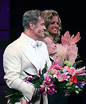 """Kelsey Grammer, Jerry Herman, Douglas Hodges<br />during the Broadway Opening Night Performance Curtain Call for  """"La Cage Aux Folles""""  at the Longacre Theatre in New York City.<br />April 18, 2010"""