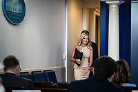 Kayleigh McEnany, White House press secretary, speaks during a news conference in the James S. Brady Press Briefing Room at the White House in Washington, D.C., U.S. on Tuesday, June 30, 2020. McEnany spoke about the New York Times story on Russian military intelligence. <br /> Credit: Sarah Silbiger/CNP/AdMedia