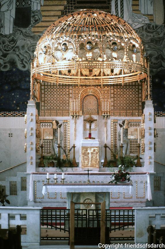 Otto Wagner: Church AM Steinhof, Vienna. Alter.