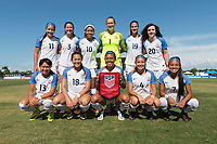 Bradenton, FL - Sunday, June 10, 2018: USA Starting XI during a U-17 Women's Championship match between the United States and Haiti at IMG Academy.  USA defeated Haiti 3-2 to advance to the finals.