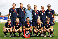 US Team starting lineup vs Sweden - Algarve Cup 2010 match in Ferreiras, Portugal on March1, 2010. USA won 2-0.
