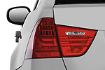 Tail light close up detail view of a 2009 bmw 3 series wagon 328