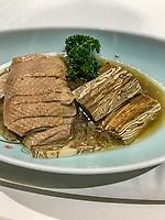 Yangzhou, Jiangsu, China.  Goose with Dried Bean Curd.
