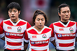 Aya Takeuchi (l) and Maki Ito of Japan (l) during the Womens Rugby World Cup 2017 Qualifier match between Hong Kong and Japan on December 17, 2016 in Hong Kong, Hong Kong. Photo by Marcio Rodrigo Machado / Power Sport Images