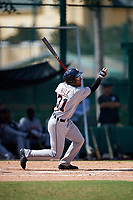 Detroit Tigers Derek Hill (31) at bat during an Instructional League game against the Atlanta Braves on October 10, 2017 at the ESPN Wide World of Sports Complex in Orlando, Florida.  (Mike Janes/Four Seam Images)