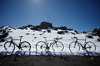 bike parking at altitude (up the Tiede Vulcano Pass in tenerife)