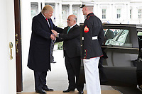 President Donald Trump welcomes Iraqi Prime Minister Haider Al-Abadi upon his arrival, Monday, March 20, 2017, to the West Wing entrance of the White House in Washington, D.C. (Official White House photo by Benjamin Applebaum)
