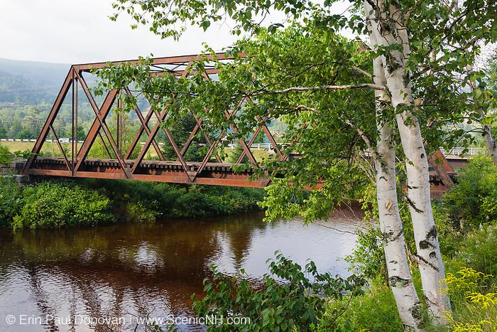 Railroad trestle along the old Boston and Maine Railroad near Fabyans in Carroll, New Hampshire USA.