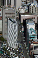 aerial photograph of the Providian Financial Building, 201 Mission Street, with a view down Beale Street toward Market Street, San Francisco California