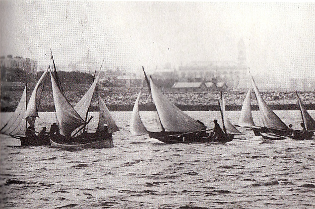 Eccentric small boat beginnings – Dublin Bay SC in action in 1886