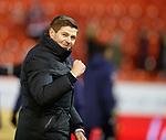 06.02.2019: Aberdeen v Rangers: Steven Gerrard at full time