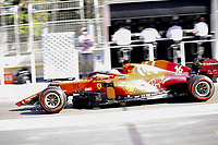 4th June 2021; Baku, Azerbaijan; Free practise sessions; Damage from a crash for 16 LECLERC Charles mco, Scuderia Ferrari SF21 during the Formula 1 Azerbaijan Grand Prix 2021 at the Baku City Circuit, in Baku, Azerbaijan