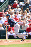 March 10,2009: Outfielder Trevor Crowe (62) of the Cleveland Indians at Tempe Diablo Stadium in Tempe, AZ.  Photo by: Chris Proctor/Four Seam Images