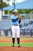 FCL Rays pitcher Over Galue (63) during a game against the FCL Pirates Black on August 3, 2021 at Charlotte Sports Park in Port Charlotte, Florida.  (Mike Janes/Four Seam Images)