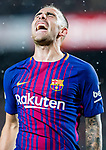 Francisco Alcacer Garcia, Paco Alcacer, of FC Barcelona celebrates after scoring his goal during the La Liga 2017-18 match between FC Barcelona and Sevilla FC at Camp Nou on November 04 2017 in Barcelona, Spain. Photo by Vicens Gimenez / Power Sport Images