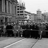Maart 1973. Bouw brug Franklin Rooseveltplaats.