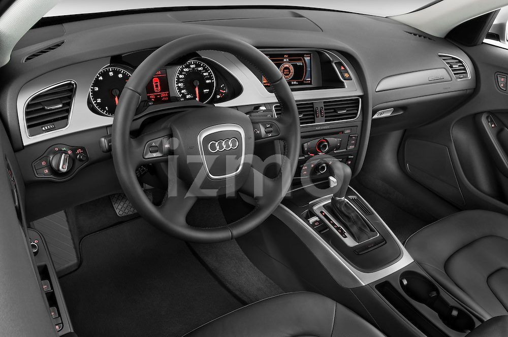 High angle dashboard view of a 2011 Audi A4 Sedan