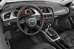 High angle dashboard view of a 2011 Audi A4 Sedan