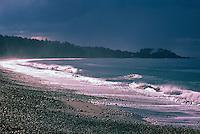 Haida Gwaii (Queen Charlotte Islands), Northern BC, British Columbia, Canada - Agate Beach and Yakan Point along McIntyre Bay, Naikoon Provincial Park, Graham Island