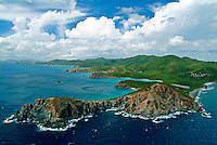 Aerial view of Ram's Head and the south shore of St John looking west with Estate Concordia<br /> U.S. Virgin Islands