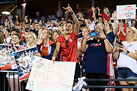 FRISCO, TX - MARCH 11: The fans cheering on the USWNT during a game between Japan and USWNT at Toyota Stadium on March 11, 2020 in Frisco, Texas.