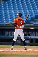 Luke Heefner (8) of Cedar Hill, TX during the Perfect Game National Showcase at Hoover Metropolitan Stadium on June 19, 2020 in Hoover, Alabama. (Mike Janes/Four Seam Images)