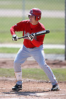 April 4, 2009:  Outfielder Ryan Chenoweth (8) of the Ball State Cardinals during a game at Amherst Audubon Field in Buffalo, NY.  Photo by:  Mike Janes/Four Seam Images