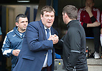 St Johnstone v Hamilton Accies…23.09.17…  McDiarmid Park… SPFL<br />Tommy Wright greets Martin Canning<br />Picture by Graeme Hart. <br />Copyright Perthshire Picture Agency<br />Tel: 01738 623350  Mobile: 07990 594431