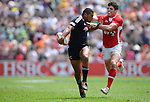 New Zealand vs Wales on Day 2 of the 2012 Cathay Pacific / HSBC Hong Kong Sevens at the Hong Kong Stadium in Hong Kong, China on 24th March 2012. Photo © Victor Fraile  / The Power of Sport Images