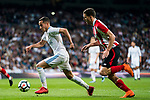 Lucas Vazquez (L) of Real Madrid is followed by Oscar de Marcos Arana of Athletic Club de Bilbao during the La Liga 2017-18 match between Real Madrid and Athletic Club Bilbao at Estadio Santiago Bernabeu on April 18 2018 in Madrid, Spain. Photo by Diego Souto / Power Sport Images