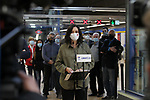 The President of the Community of Madrid and candidate for re-election, Isabel Diaz Ayuso, presents the Partido Popular's transport and infrastructure programme for the Madrid region at an event at Villaverde Alto Metro station on April 22, 2021 in Madrid, Spain.(AlterPhotos/ItahisaHernandez)