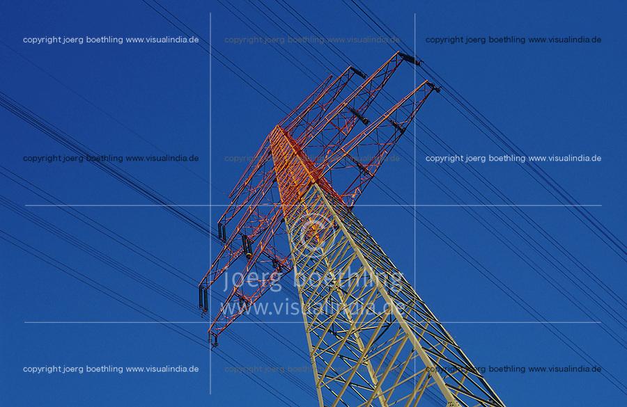Deutschland Energieversorgung und Netzausbau, Hochspannungsleitungen / GERMANY energy grid