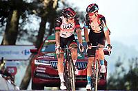 4th September 2021; Sanxenxo to Castro De Herville De Mos, Pontevedra, Spain; stage 20 of Vuelta a Espanya cycling tour; Uae - Emirates 2021, Bahrain - Victorious Gibbons, Ryan Mader, Gino Castro De Herville De Mos