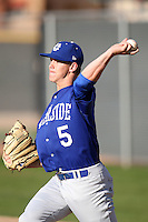 Dylan Stuart #5 of University of California-Riverside pitches against Air Force in the annual Coca-Cola Classic at Surprise Recreational Complex on March 4, 2011 in Surprise, Arizona..Photo by:  Bill Mitchell/Four Seam Images.