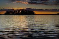 Sunset at Astotin Lake in Elk Island National Park