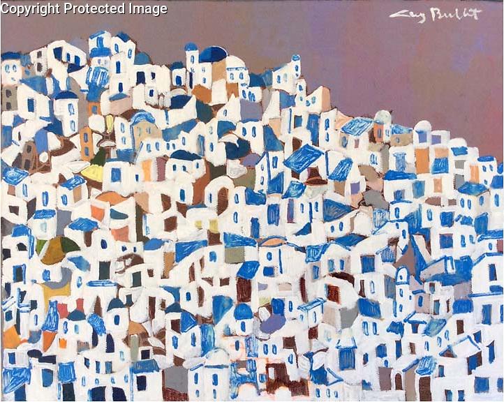 Greece; Santorini<br /> 11x14x3 Acrylic on Canvas Original Painting<br /> $3,900