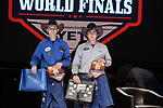 Garrett Miller, Kagan Pillars, during the Team Roping Back Number Presentation at the Junior World Finals. Photo by Andy Watson. Written permission must be obtained to use this photo in any manner.