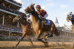 November 3, 2018: The field heads to the first turn in the Breeders' Cup Classic on Breeders' Cup World Championship Saturday at Churchill Downs on November 3, 2018 in Louisville, Kentucky. Alex Evers/Eclipse Sportswire/CSM