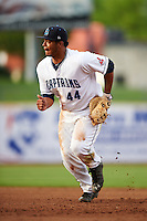 Lake County Captains first baseman Bobby Bradley (44) during a game against the Fort Wayne TinCaps on May 20, 2015 at Classic Park in Eastlake, Ohio.  Lake County defeated Fort Wayne 4-3.  (Mike Janes/Four Seam Images)