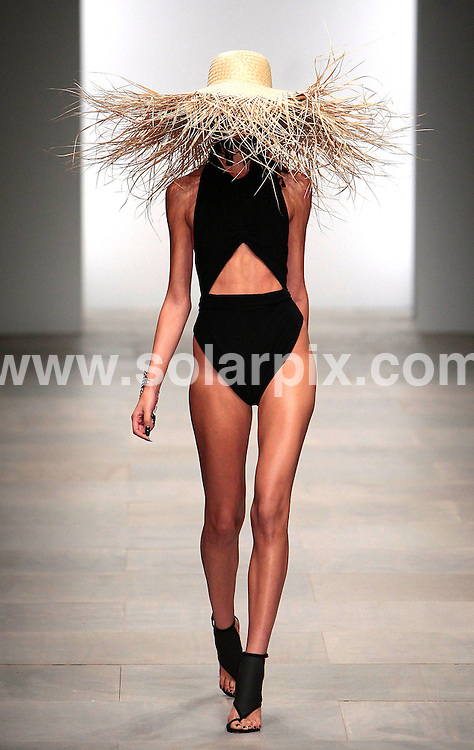 **ALL ROUND PICTURES FROM SOLARPIX.COM**                                             **NO UK NEWSPAPER PUBLICATION**.**UK MAGAZINE & SUPPLEMENT PUBLICATION ONLY** AND NO PUBLICATION IN AUSTRALIA, BELGIUM, FRANCE, GERMANY, ITALY, SCANDINAVIA AND USA**                                                                                  Caption:London Fashion Week The Marios Schwab catwalk SS2012 Runway Summer Season at Somerset House in London on 18 September 2011.                                                                                                                        JOB REF: 13985       SFE       DATE:18.09.2011                                                            **MUST CREDIT SOLARPIX.COM OR DOUBLE FEE WILL BE CHARGED**                                                                      **MUST AGREE FEE BEFORE ONLINE USAGE**                               **CALL US ON: +34 952 811 768 or LOW RATE FROM UK 0844 617 7637**