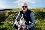 Paul Dennehy taking Millie the dog for a walk at the Lock gates in Blennerville on Sunday
