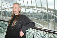 7/9/2010. Convention Centre opens. Artist Guggi is pictured arriving at the official opening of the Dublin Convention Centre. Picture James Horan/Collins
