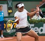 Kurumi Nara (JPN) loses to Jelena Jankovic (SRB) 7-5, 6-0 at  Roland Garros being played at Stade Roland Garros in Paris, France on May 29, 2014