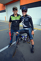 Jorge Sandoval and Corbin Strong. The opening ceremony of the 2021 NZ Cycle Classic UCI Oceania Tour at Mitre 10 Mega in Masterton, New Zealand on Wednesday, 13 January 2021. Photo: Dave Lintott / lintottphoto.co.nz