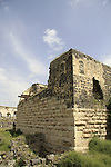 Israel, remains of the Crusader fortress in Beth Shean